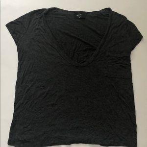 Nasty Gal grey v-neck t-shirt